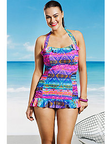 Tulum Ruffle Swimdress by Jessica Simpson