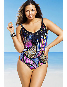 Bazaar Fringe Swimsuit by Swim Sexy