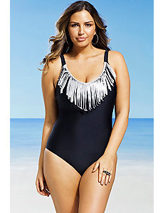 Cresent Fringe Swimsuit by Swim Sexy