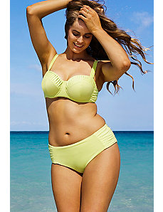 Limoncello Pleated Underwire Bikini by Robyn Lawley