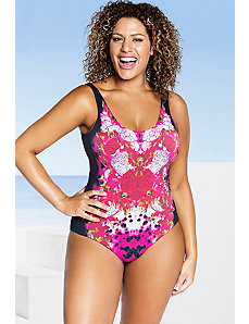Ultra Indie Dragonfruit Scoop Back Swimsuit by Robyn Lawley