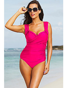 Shore Club Pink Crossover Swimsuit by Shore Club