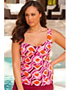 Retro Plus Size Twist Front Tankini Top by Swim Sexy