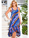 Venice Beach High/Low Cross Back Dress by Swim & Sun