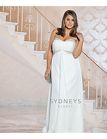 Chic plus size casual wedding dress by Sydney's Closet