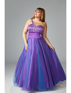 Dazzling Plus Size Prom Gown by Sydney's Closet