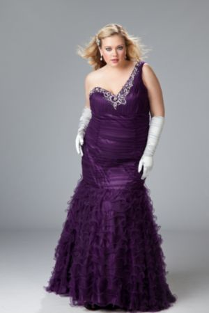 Sexy plus size evening gown