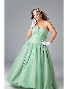 Plus size tulle ball gown by Sydney's Closet