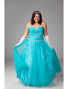 Beaded and sequined plus size ballgown by Sydney's Closet