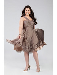 Flirty one-shoulder chiffon cocktail dress