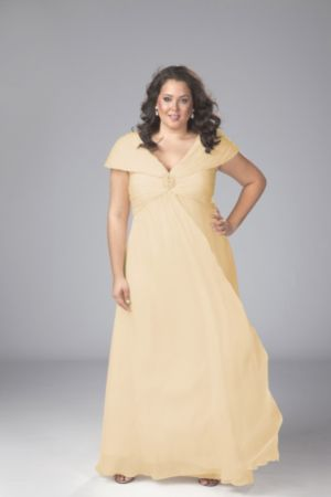 Chiffon Formal Dress with Ruched Portrait Collar