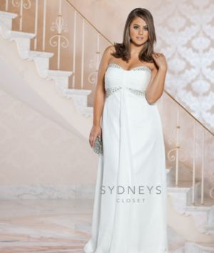 Chic plus size casual wedding dress