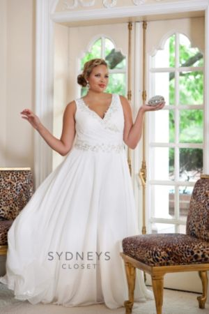 Bra-friendly plus size wedding gown