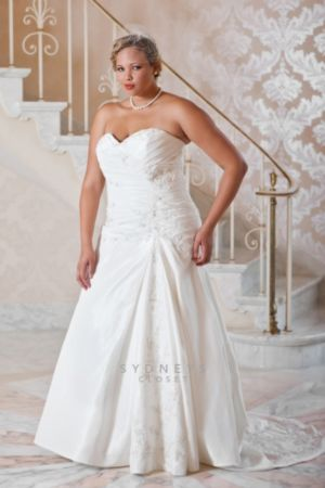 Luxury Taffeta Fit and Flare Wedding Gow