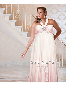 Halter plus size formal gown by Sydney's Closet