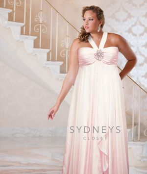 Halter plus size formal gown