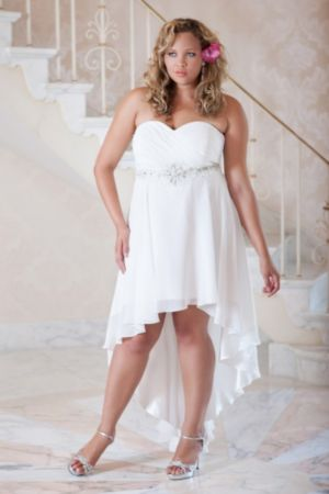 Chiffon High-low Informal Wedding Gown