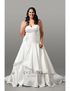 Exquisite Taffeta Bridal Gown with Dropped Waist by Sydney's Closet