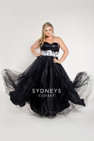 Plus Size Ball Gown Sequin Bodice