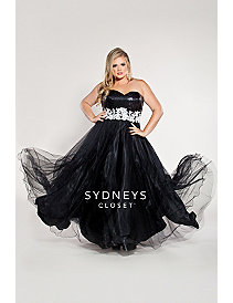 Plus Size Ball Gown Sequin Bodice by Sydney's Closet