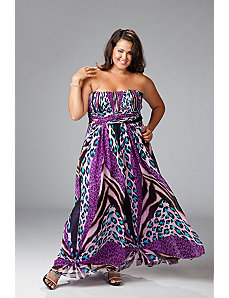 Animal Print Plus Size Evening Dress by Sydney's Closet