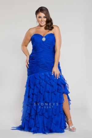Sexy Slit Skirt Plus Size Formal Dress