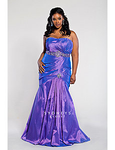 Plus Size Evening Gown in Iridescent Taffeta by Sydney's Closet