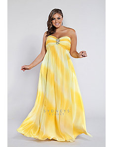 Plus size formal dress in ombre by Sydney's Closet