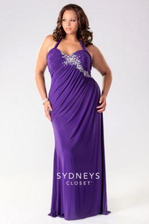 Long Halter Jersey Mermaid Dress