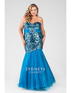 Sexy Mermaid Evening Gown by Sydney's Closet