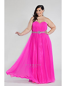 Hot Pink Chiffon Formal by Sydney's Closet