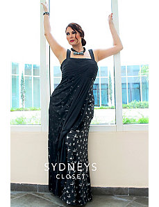 Glam Maxi Dress in Black Glitter by Sydney's Closet