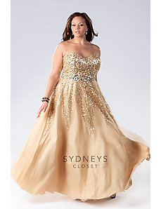 Gold Formal Dress by Sydney's Closet