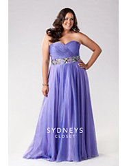 Elegant Strapless Gown in Cross-dyed Chiffon