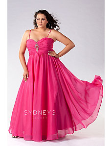 Shimmer Chiffon Evening Gown by Sydney's Closet