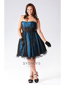 Flirty stapless polka-dot net party dres by Sydney's Closet