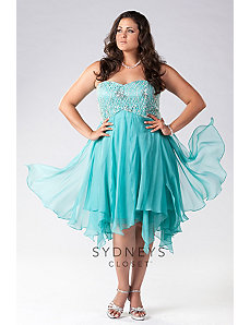 Strapless Chiffon Prom Dress by Sydney's Closet