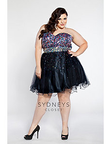 Short Tulle and Satin Cocktail Dress by Sydney's Closet