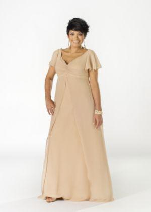 Knotted Bodice Chiffon Dress