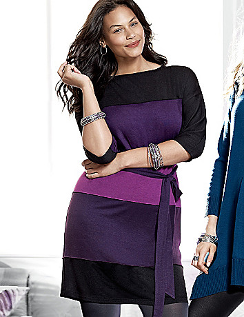 Colorblock dolman dress by Lane Bryant