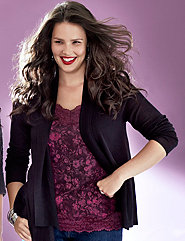 Plus Size Draped Cardigan by Lane Bryant