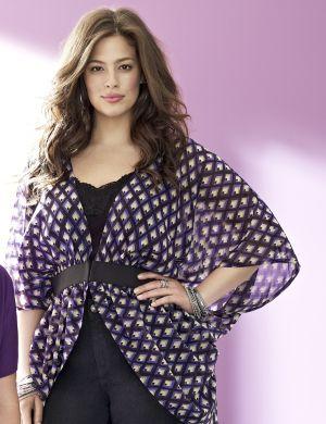 Print kimono top