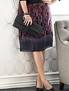 Plus Size Feather Print Skirt by Lane Bryant