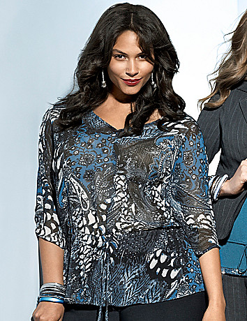 Paisley blouse by Lane Bryant