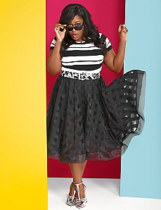 Organza Plaid Circle Skirt by Christian Siriano