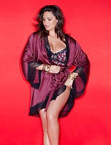 Lace trim kimono wrap by Sophie Theallet