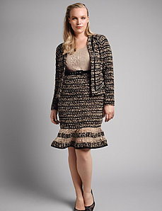 Boucle knit sheath dress by Isabel Toledo