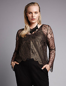 Scallop-edge lace top by Isabel Toledo