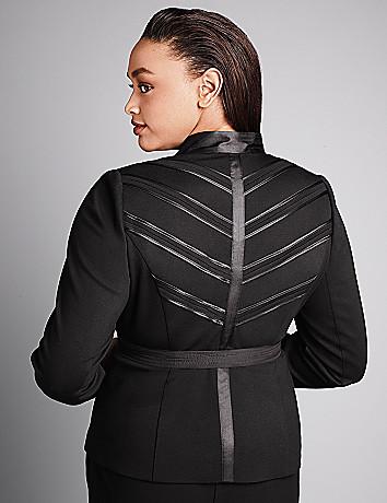 Ponte chevron jacket by Isabel Toledo