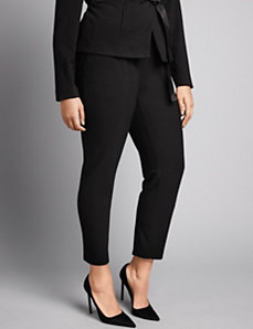 Stretch ponte skinny pant by Isabel Toledo